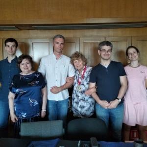 Л.Э. Калнынь с сотрудниками Отдела славянского языкознания